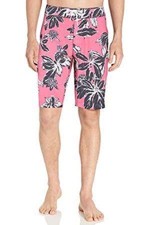 Goodthreads 11 Inch Inseam Swim Boardshort fashion-board-shorts, Pink Large Floral