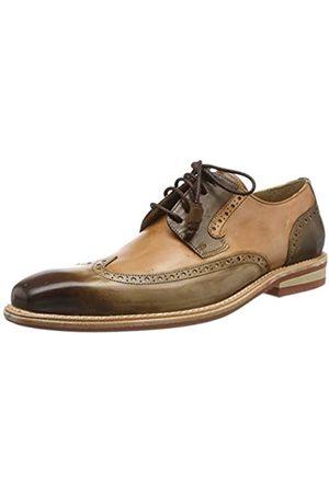 Melvin & Hamilton Marvin 13, Zapatos de Cordones Brogue para Hombre, (Mid Brown Tan Crust-Mid Brown-Crust-Tan-Modica-Red-Lining-Rich Tan)