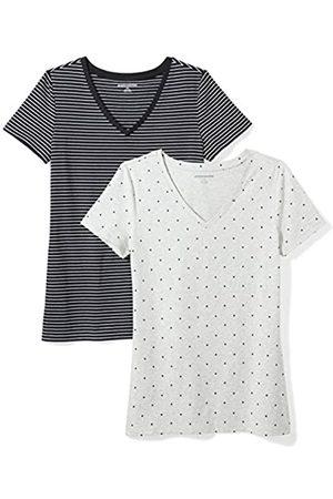 Amazon 2-Pack Short-Sleeve V-Neck Patterned T-Shirt Camiseta