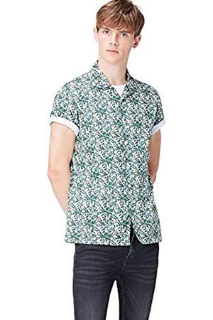 FIND Camisa de Manga Corta y Corte Estándar con Estampado Tropical Hombre