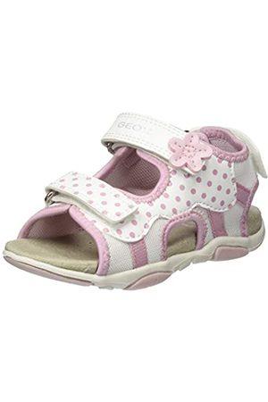 Geox Agasim Baby G, Sandalias de Punta Descubierta para Bebés, (White/Lt Pink C0814)