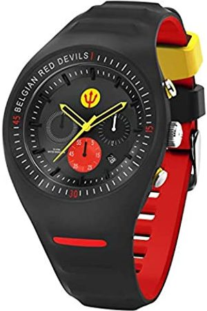 Ice-Watch RED DEVILS P. Leclercq - Black - Reloj nero para Hombre con Correa de silicona - Chrono - 016101 (Large)