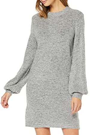 Object NOS Objeve Nonsia L/s Knit Dress Noos Vestido, Light Grey Melange