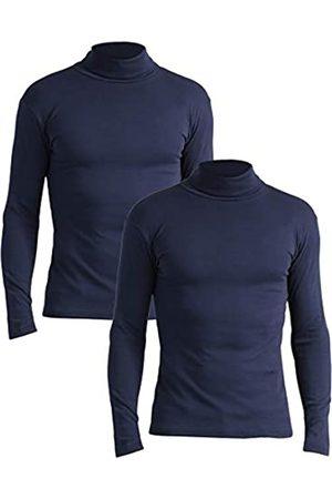 Lower East Slim Fit Rollkragen Shirt Camiseta cuello alto, Navy), XX-Large (Talla del fabricante: 2XL)