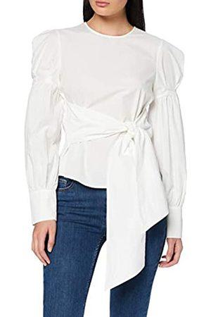 FIND Blusa de Lunares con Cintura Anudada para Mujer