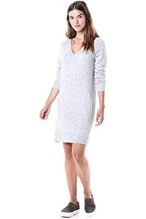 Daily Ritual Mid-Gauge Stretch V-Neck Sweater Dress sweaters, claro