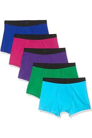 FIND Marca Amazon - Belk073m5 calzoncillos hombre, Blue Pink Purple/Neon Scuba/Green), 46 (Talla del fabricante: X-Small)