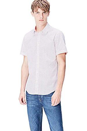 FIND Camisa de Lunares Entallada de Manga Corta Hombre