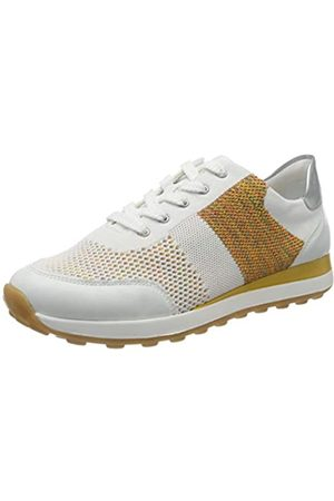 Remonte D1812, Zapatillas para Mujer, (Weiss/Weiss-Multi/Silver 81)