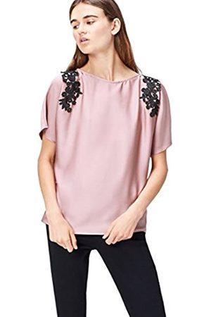 FIND Lace Trim Shoulder Blusa para Mujer