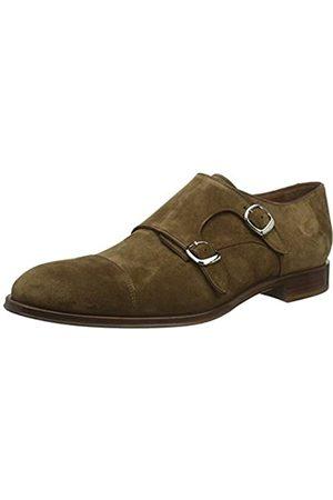 Lottusse L6964, Zapatos Doble Hebilla para Hombre, (Camoscio Marrone)