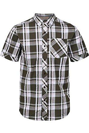 Regatta Deakin III Coolweave Cotton Button Down Check Short Sleeve Camisa, Hombre