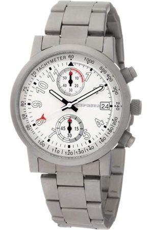 CEPHEUS CP505-181 - Reloj cronógrafo de Caballero de Cuarzo con Correa de Acero Inoxidable (cronómetro) - Sumergible a 50 Metros