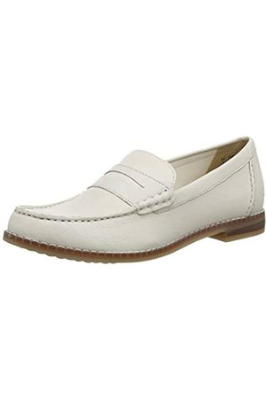 Hush Puppies WREN, Mocasines para Mujer, Marfil (Ivory Ivory)