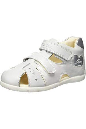 Geox B Kaytan a, Sandalias para Bebés, White/Silver C0007