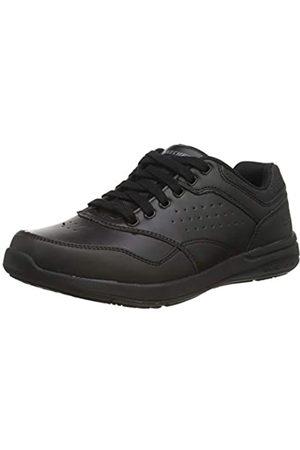 Skechers Men's Elent-Velago Casual Oxford, Black (Black/Black Bbk)