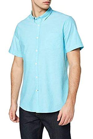 FIND Camisa Entallada de Algodón de Manga Corta para Hombre