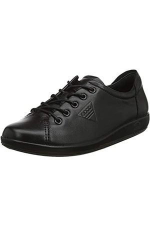Ecco Soft 2.0, Zapatos de Cordones Derby para Mujer, (56723black with Black Sole)