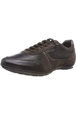 Geox Uomo Symbol A, Zapatos de Cordones Oxford para Hombre, (Black/mud C9355)