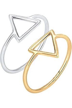 Elli Mujer de de ley 925 anillo de triangle-shape