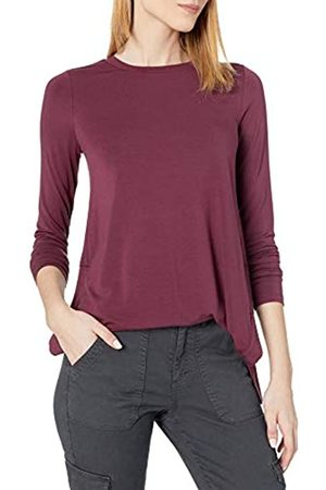 Daily Ritual Long-Sleeve Split-Hem Tunic Shirts