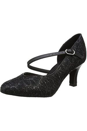 So Danca Bl504, Zapatillas de Baila Moderno y Jazz Mujer, (Black Sparkle)
