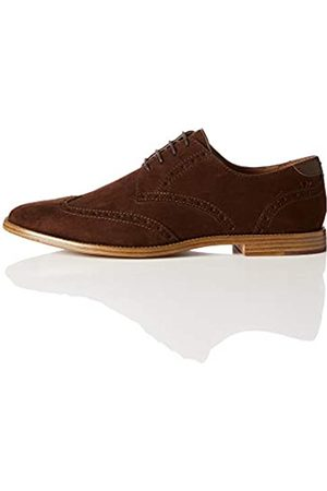 FIND Angus Zapatos de cordones brogue Men's, (Brown Brown)