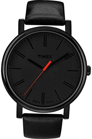 Timex T2N794 - Reloj análogico de cuarzo con correa de cuero unisex