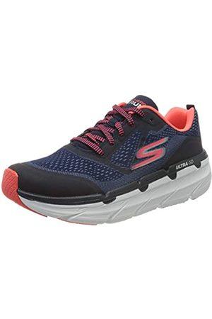Skechers MAX Cushioning Premier, Zapatillas para Mujer, (Nvy Synthetic/Textile/Pnk Trim NVPK)