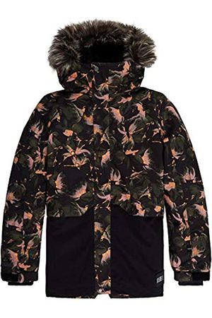 O'Neill Pg Fur Zeolite - Chaqueta de Nieve para niña, Niñas, 9P5074, Black AOP W/Red