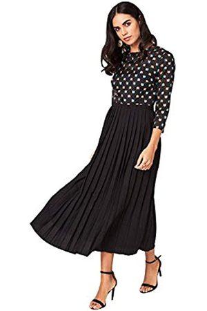 Little Mistress Jemima Black Geo Emrboidery Midaxi Dress Vestido Fiesta Mujer