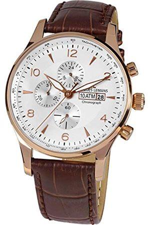 Jacques Lemans 1-1844F - Reloj de Pulsera analógico de Cuarzo y Piel para Mujer
