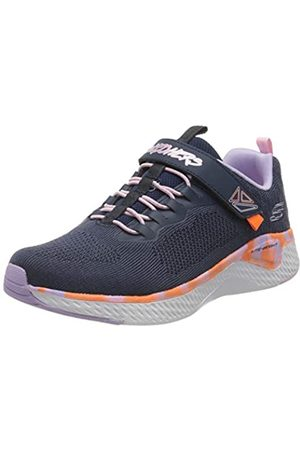 Skechers Solar Fuse, Zapatillas Chica, (Navy Knit Mesh/Multi Trim NVMT)
