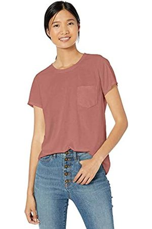 Goodthreads Washed Jersey Cotton Pocket Crewneck T-Shirt Fashion-t-Shirts, Dusty Rose