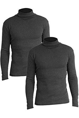 Lower East Slim Fit Rollkragen Shirt Camiseta cuello alto, Anthrazit Melange), Small