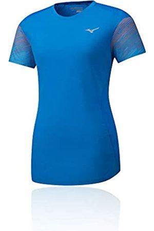 Mizuno Aero T-Shirt-Blau, Grau Camisetas, Mujer