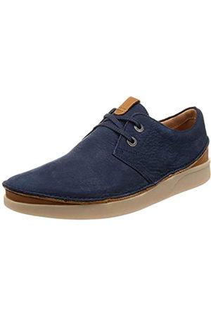 Clarks Oakland Lace, Zapatos de Cordones Derby para Hombre, (Navy Nubuck-)