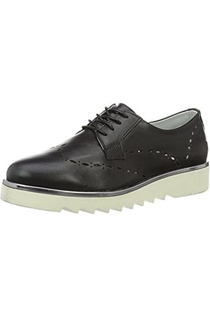 Daniel Hechter HJ74091, Zapatos de Cordones Derby para Mujer, (Schwarz 100)