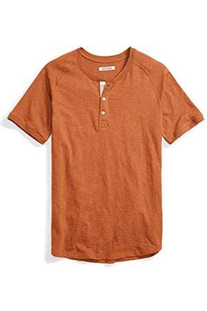 Goodthreads Marca Amazon - - Camiseta estilo Henley de algodón flameado de manga corta, ligera para hombre