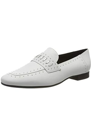 Geox D Marlyna B, Mocasines para Mujer, (White/Silver C0007)