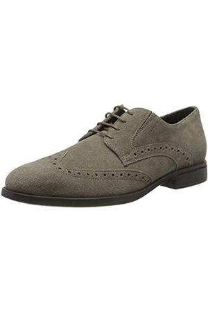 Geox Hombre Con cordones - U Domenico D, Zapatos de Cordones Brogue para Hombre, (Taupe C6029)