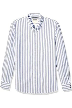 Goodthreads Slim-Fit Long-Sleeve Fashion Stripe Oxford Shirt button-down-shirts, Denim Blue Wide