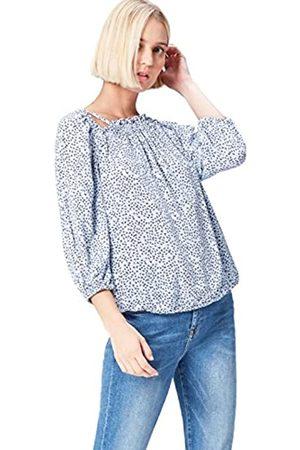 FIND Blusa Estampada con Aberturas para Mujer