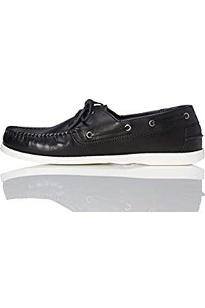 FIND Zapatos Náuticos Hombre, (Black)