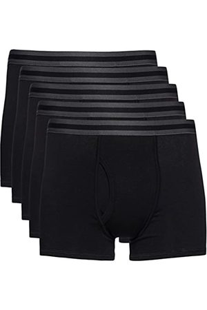 FIND Marca Amazon - Boxer Hombre, Pack de 5 Multicoloured (Black X5) Small