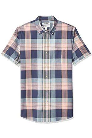 Goodthreads – Camisa madrás de manga corta y corte estándar para hombre