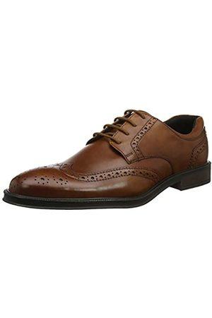 Hotter Cambridge, Zapatos de Cordones Brogue para Hombre, (Dark Tan 21)