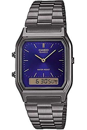 Casio Reloj Analógico-Digital para Unisex Adultos de Cuarzo con Correa en Acero Inoxidable AQ-230EGG-2AEF
