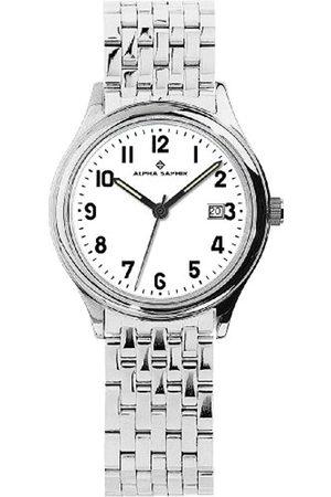 Alpha Saphir 310F - Reloj analógico de caballero de cuarzo con correa de acero inoxidable - sumergible a 100 metros