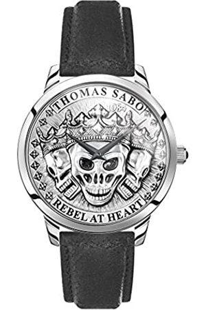Thomas Sabo Reloj Analógico para Hombre de Cuarzo con Correa en Cuero WA0355-203-201-42 mm